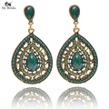 New Drop Earrings For Women Ethnic Vintage Alloy Multicolor Bead Large Dangle Earrings Supplies jewelry Manufacturing 11L25