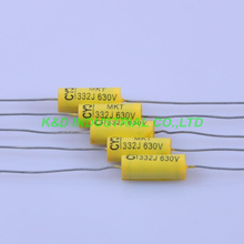 10pcs Vintage Radio Tubular Polye Film Capacitor Axial 0.0033uf 332 630V for Guitar Amplifier