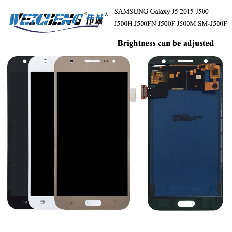 WEICHENG Brightness can be adjusted For Samsung Galaxy J5 2015 LCD <font><b>Display</b></font> <font><b>J500</b></font> J500H J500FN LCD <font><b>Display</b></font> +Touch Screen Assembly image