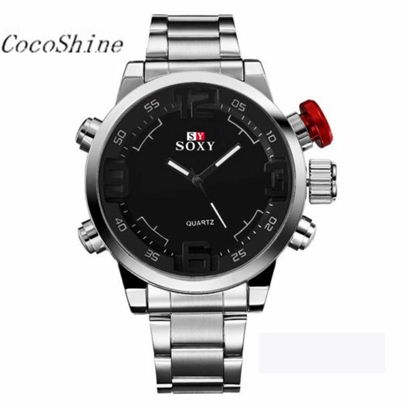 CocoShine A908 Mens Luxury Army Sport Wrist Watch Waterproof Analog Quartz Watches wholesale Free shipping