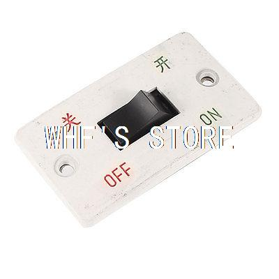 Plastic Panel 4 Termitals DPST NO ON/OFF Switch 10A 220V AC for Grinding Machine plastic shell 2 position on off dpst 4 pin terminal snap in rocker switch