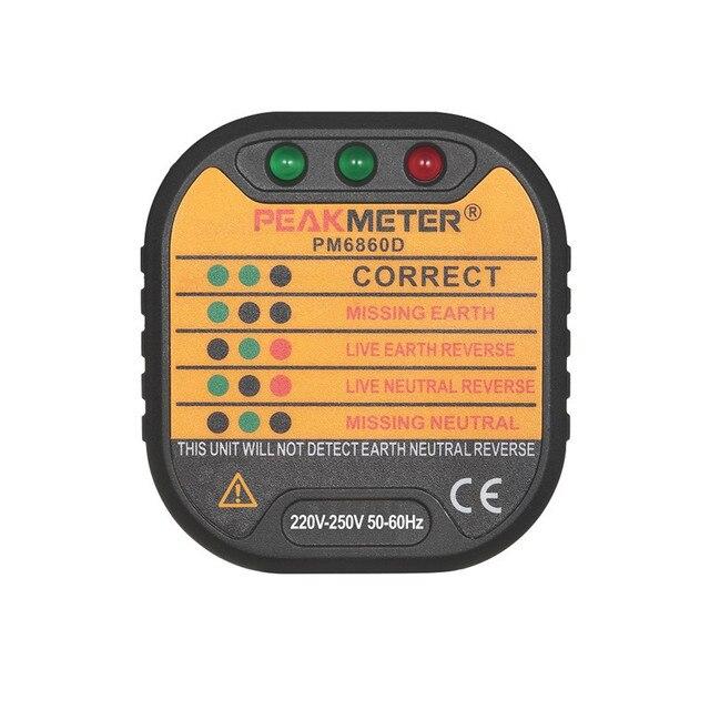 PEAKMETER PM6860DR Automatische Elektrische Steckdose Tester ...