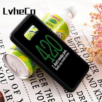 609c4ae0f LvheCn s3 s4 s5 nota 3 4 5 7 8 teléfono cubierta casos para Samsung Galaxy  s6 s7 s8 s9 edge plus WEED CANNABIS 420 MARY JANE puntuación