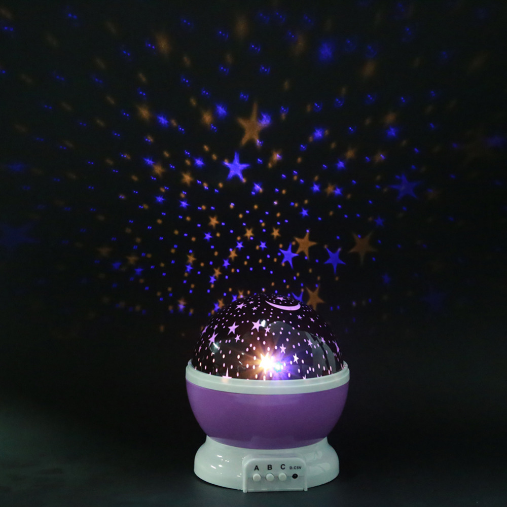 Stars Sky Rotating Led Night Light Projector Moon Lamp