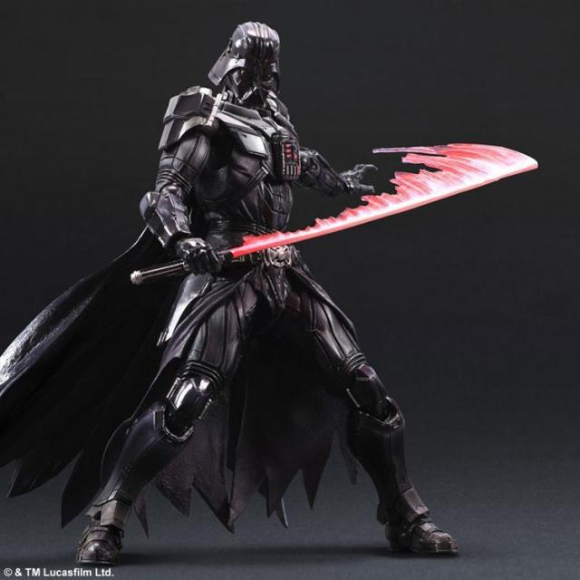 ФОТО Brand New Star Wars Square Enix VARIANT Paly Arts Kai Darth Vader 27cm PVC Action Figure Collection Toy Doll