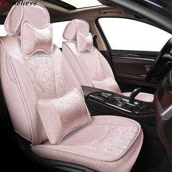 Car Believe car seat cover For Toyota corolla chr wish prius Land Cruise 120 prado 150 rav4 ccessories covers for vehicle seat