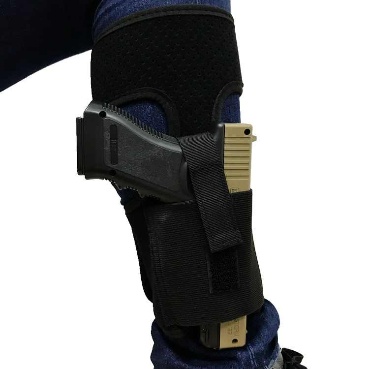 US 9MM Concealed Pistol Gun Carry Ankle Leg Holster Bag G17 19 22 23 Ruger LCP