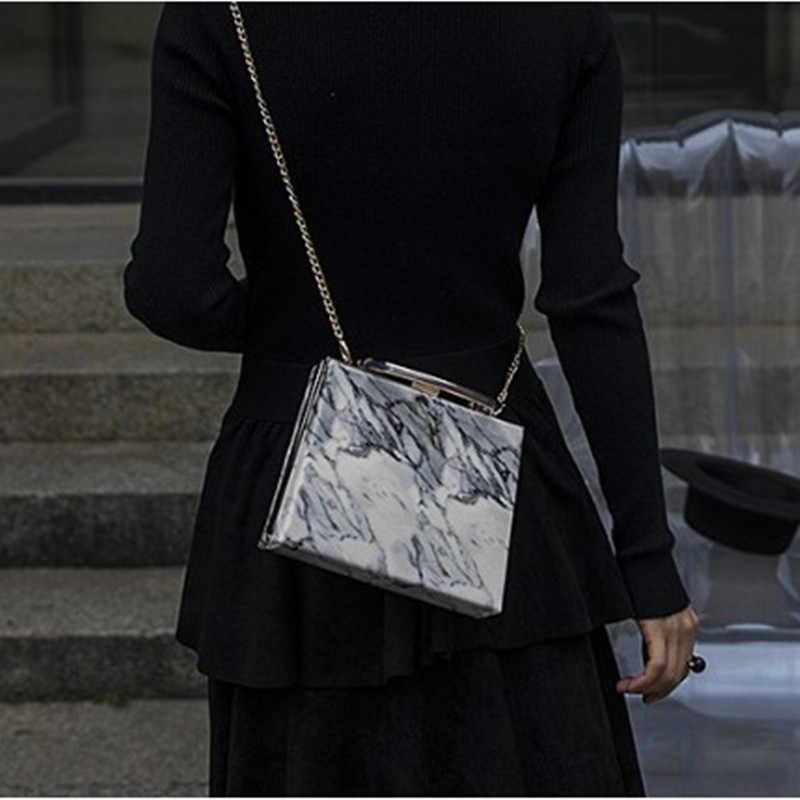 068376d093d3 ... Женская вечерняя клатч Новый уникальный мрамор полосатый сумка  элегантный кошелек мода Bolsa Feminina металлическая цепь для ...