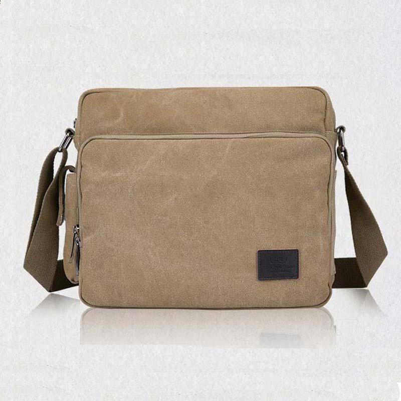 Nya 2018 multifunktionella män Crossbody Messenger Bags Canvas - Väskor för bagage och resor - Foto 2