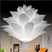 Flowers Lampshade Bedroom DIY Modern Pendant Lotus Novel Iq Puzzle Lamp White Color Pendant Lights Size