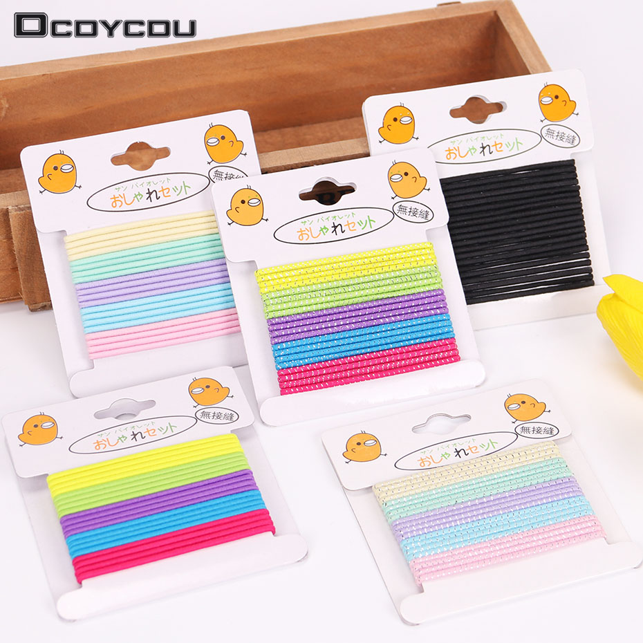 40PCS/2 Sets Colorful Elastic Hair Bands Ponytail Holder Child Kids Rubber Hair Elastic Accessories for Girls Multicolor Tie Gum m mism 2pcs new rhinestone bead hair elastic band hair accessories rubber tie gum ponytail holder scrunchy for women girls