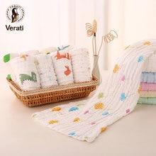VERATI 1pc nettes Gesicht Handtuch Baumwolle saugfähigen trocknen Handtuch für Baden Neugeborene Kind Waschlappen Kinder Fütterung Taschentuch V005