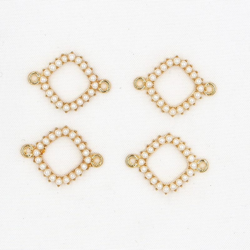 50370fc11d Double Circle DIY Earrings making handmade pearl Connectors ...