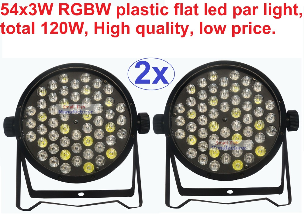 где купить 2pcs DJ Disco Par Led 54x3W Stage Light DMX Strobe flat luces discoteca party lights laser rgbw luz de projector lumiere control по лучшей цене