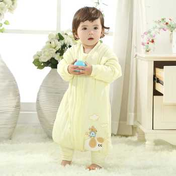 Detachable Sleeve Boys Girls Baby Kids Baby Sleeping Bag Cotton Baby Sleep Sacks Autumn Winter Children Blankets Saco de dormir