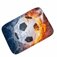MDCT 3D Water Fire Football Baseball Printed Floor Mats Outside Kitchen Entrance Mats Kids Children Room
