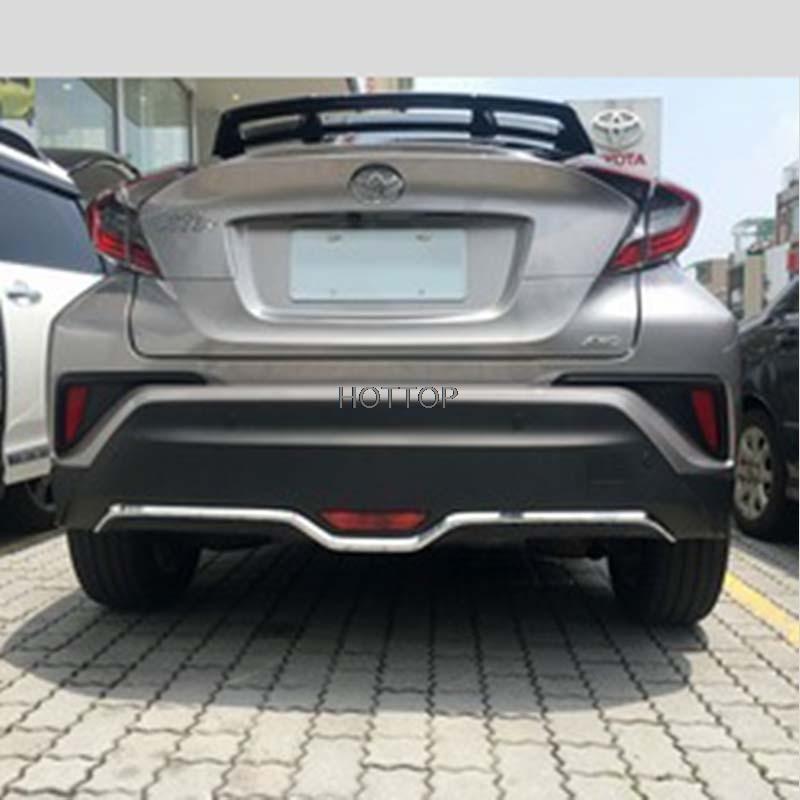 HOTTOP для Toyota с-HR ЧР 2016 2017 ABS хром задний бампер отделка Крышка под давлением автомобиль для укладки аксессуары 1 шт.