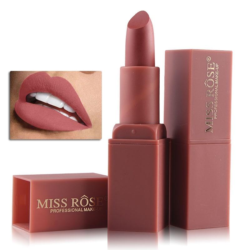 MISS ROSE nude batom matte lipstick Waterproof Long
