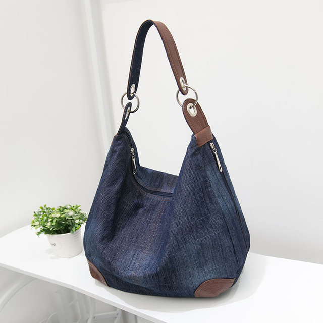 HOTAHOY Large Luxury Handbags Women Bag Designer Ladies Hand Bags Big  Purses Jean Denim Tote Crossbody Women Shoulder Bags 93a85fb832608