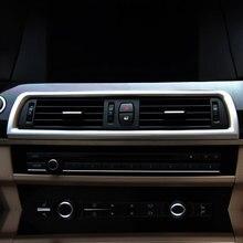 Для BMW 5 серии F10 2011-2016 автомобиля приборной панели консоли кондиционер Outlet кадр Vent украшения крышка ABS аксессуары из хрома