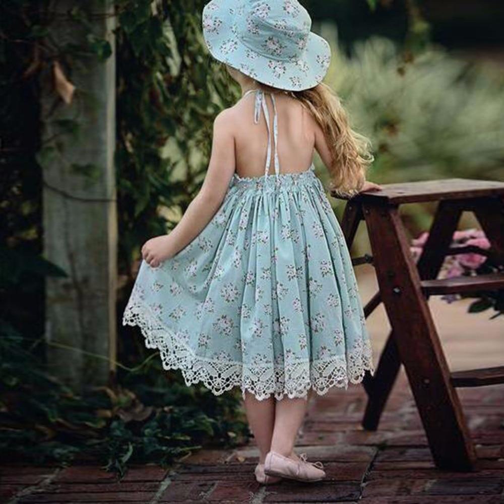 Puseky 2018 Mode Sommer Mädchen Kleider Hochzeit Kinder Spitze Kleid ...