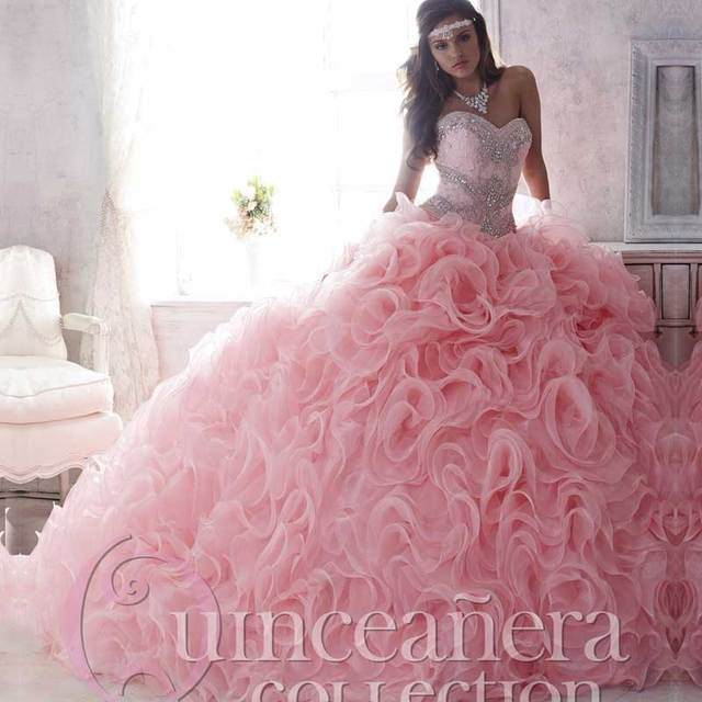 b9c9aa01dcb Luxury Beaded Lace Sweetheart Light Pink Puffy Quinceanera Dresses 15 Years  Cheap Quinceanera Dress Sweet 16 Ball Gown Quinceane
