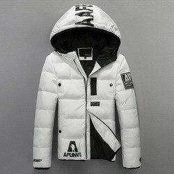 Men s hooded down jackets winter fashion slim fit white duck down padded coats men down.jpg 250x250