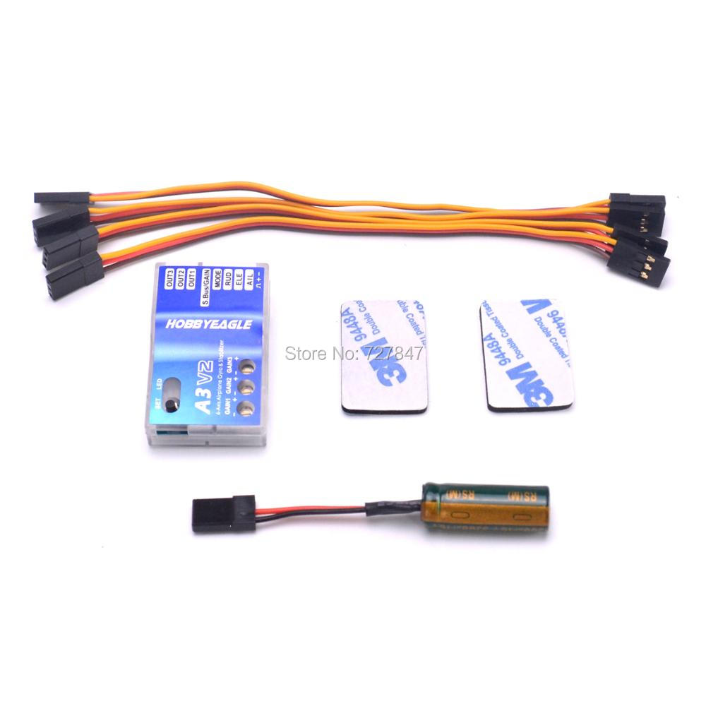 Eagle A3 V2 Aeroplane Flight Controller Stabilizer System 6-axle Gyro for RC Airplane Fixed-wing Copter wholesale eagle a3 super ii flight controll gyro 3d avcs for fixed fpv half set
