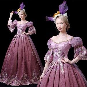 Маскарадное платье в викторианском стиле 18-го века в стиле рококо
