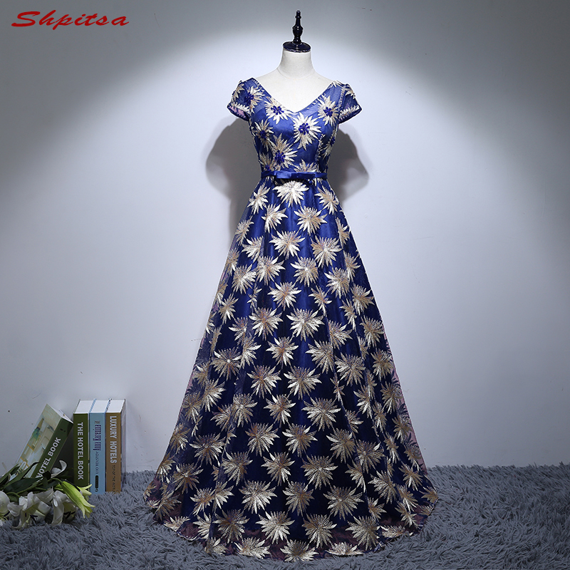 Royal Blue Long   Evening     Dresses   Party on Sale A Line Women Prom Formal   Evening   Gowns   Dresses   robe de soiree longue