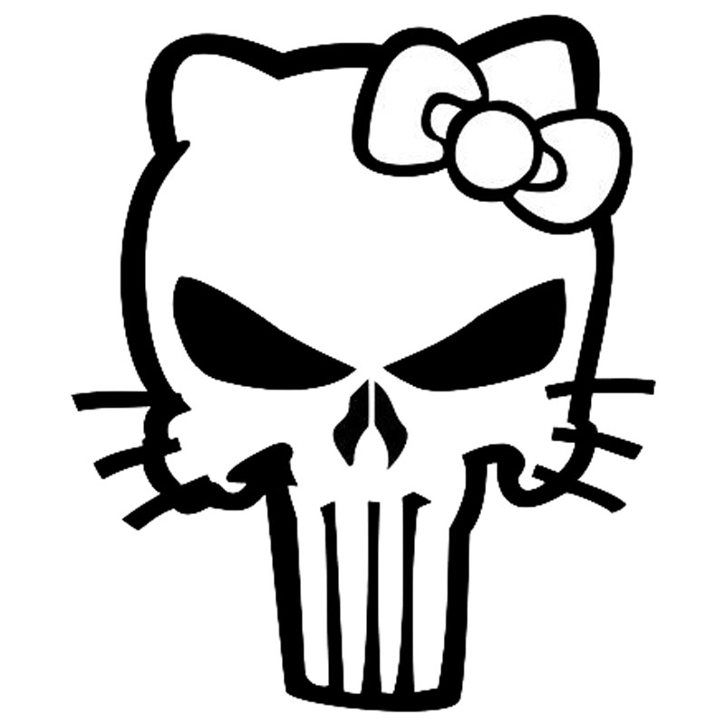 Hello Kitty Skull Coloring Pages : Sticker mp picture more detailed about