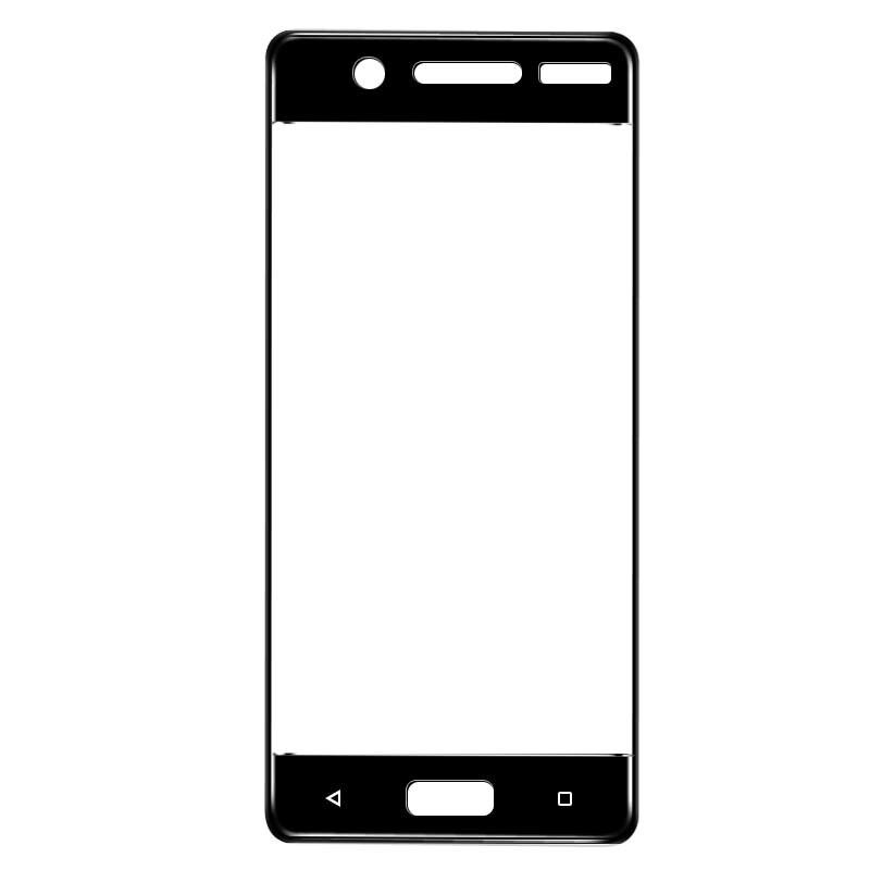 Tampa Do Protetor de Tela de Vidro Temperado Para Nokia 5 completo de vidro película protetora Para Nokia 5