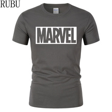 New Fashion MARVEL T-Shirt Men 100% Cotton