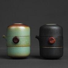 TANGPIN Японский керамический заварочный чайник gaiwan чайные чашки ручной работы портативный путешествия Офис чайный сервиз
