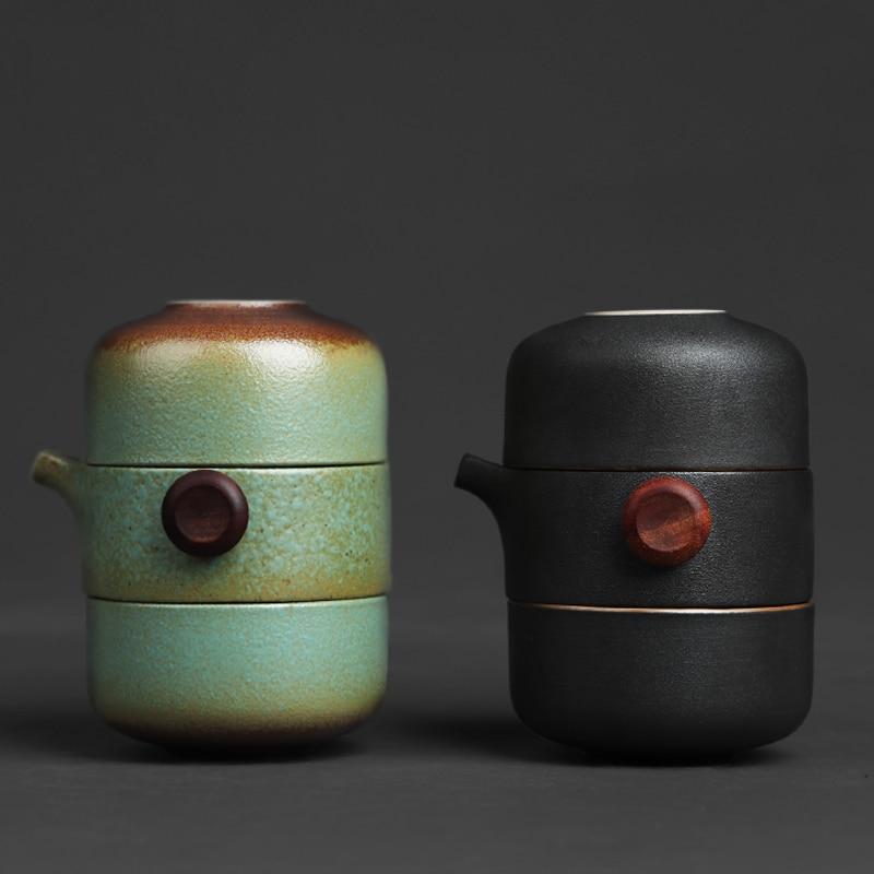 TANGPIN Japanese Ceramic Teapot Gaiwan Teacups Handmade Portable Travel Office Tea Set