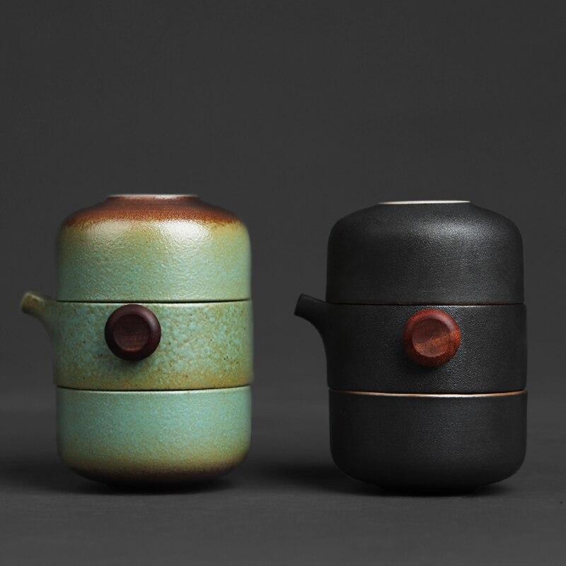 TANGPIN japonesa tetera de cerámica gaiwan tazas de té hechas a mano portátil de viaje juego de té para la Oficina