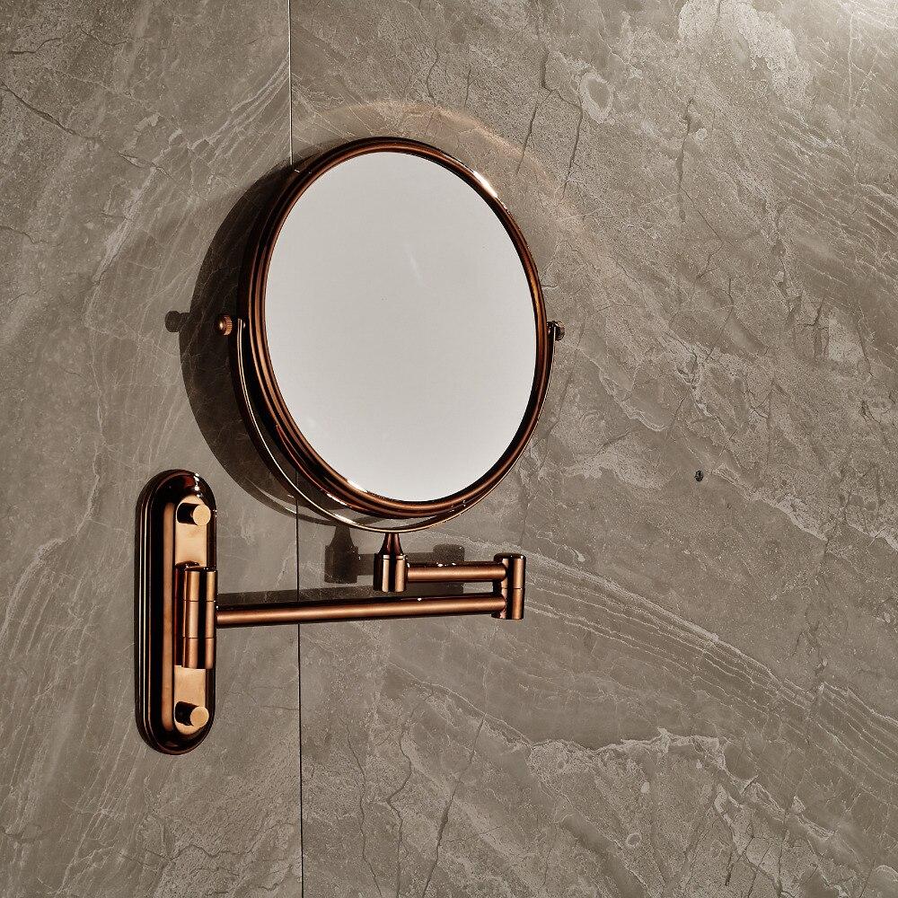Rose Golden Brass 8 Makeup mirror Dual Sides Magnifying Costemic Mirror Wall лаки для ногтей golden rose лак golden rose rich color тон 156