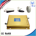 LCD Display 3G W-CDMA 2100MHz + GSM 900Mhz Dual Band Mobile Phone Signal Booster 900 2100 Cell Signal Repeater 2g 3g Full set