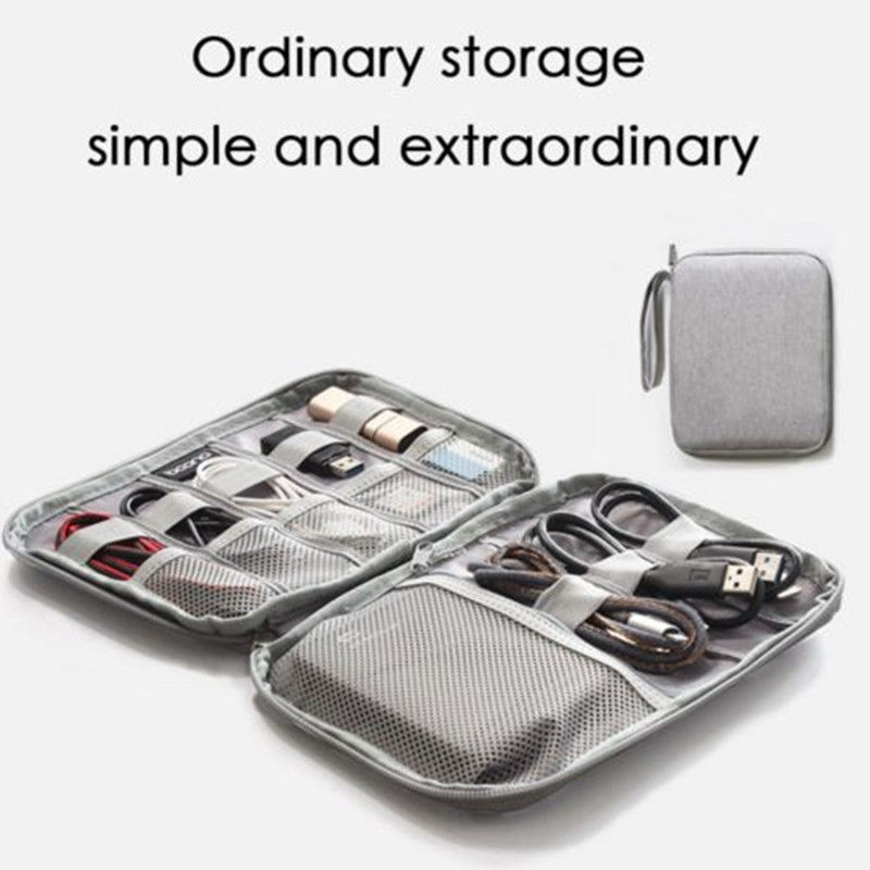 Electronic Accessories Cable Double Layer Storage Bag
