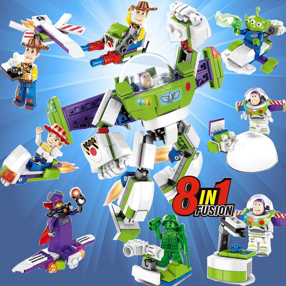 Toy Story IV Figure Buzz Lightyear Woody Aliens Jessie black Dragon Building Blocks Set Models Toys SY6699 figurine