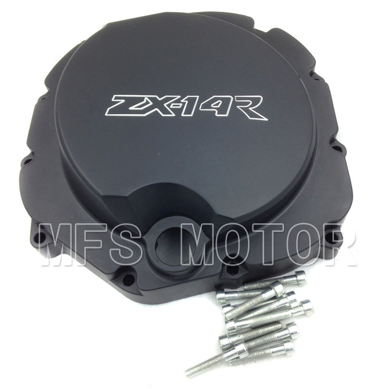 Motorcycle Part Right side Engine Clutch cover For Kawasaki ZX14R ZZR1400 2006 2007 2008 2009 2010 2011 2012 2013 BLACK for kawasaki zx14r zzr1400 2006 2007 2008 2009 2010 2011 2012 2013 2014 zx 14r motorcycle engine stator cover right silver