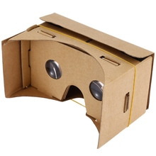 Hot!!! DIY Magnet Google Cardboard Virtual Reality VR Box Mobile Phone 3D Viewing Glasses For 5.0″ Screen VR Devices