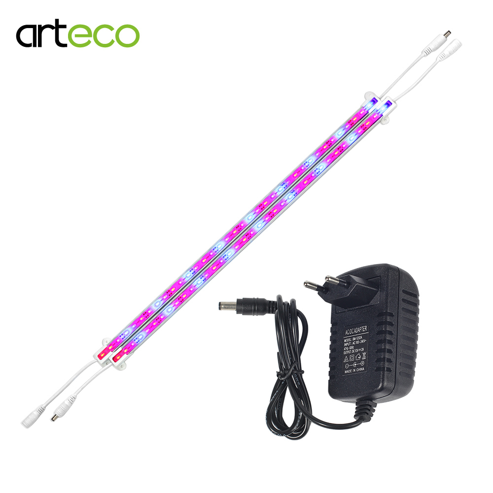 2PCS LED Grow Light With 2A Power Adapter DC12V 5630 LED Bar Light 50CM For Aquarium Greenhouse Plant Growing Light