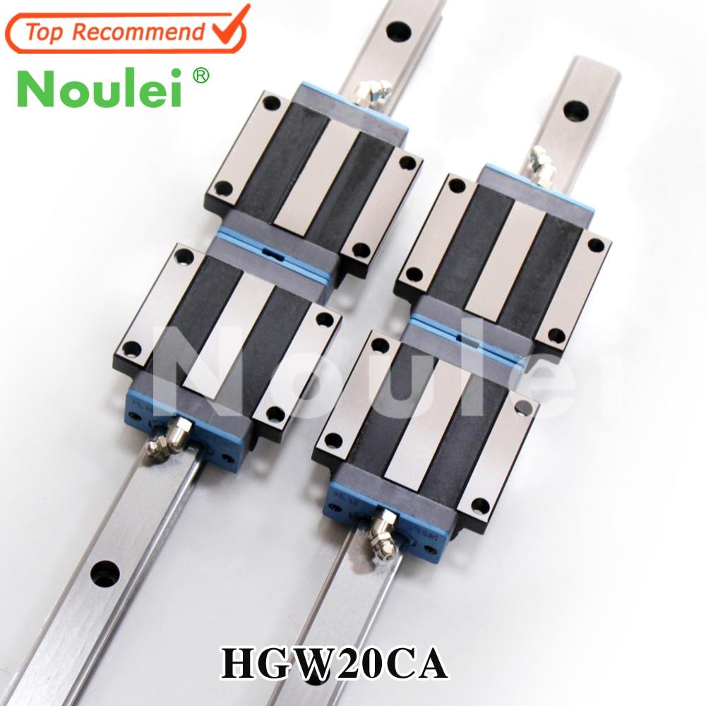 Noulei HGW20 China Linear Motion Rails HGR20 witn HGW20CA Guide Blocks 20mm CNC set 500mm 1000mm 1200mmNoulei HGW20 China Linear Motion Rails HGR20 witn HGW20CA Guide Blocks 20mm CNC set 500mm 1000mm 1200mm