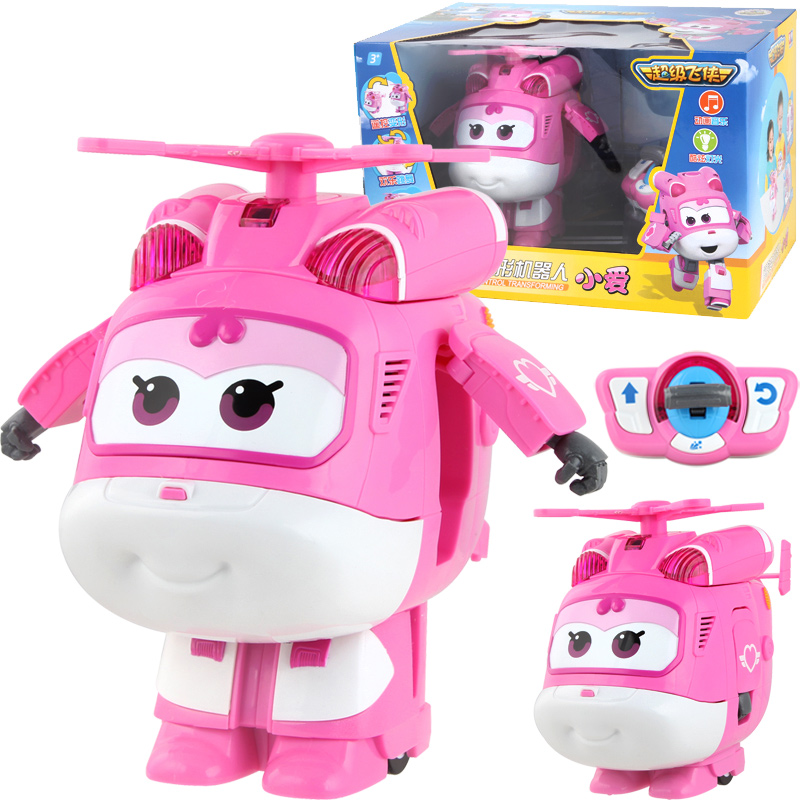 Jet and Dizzy Super Wings Remote Control Transformation Toys Action Figure Models ABS Deformation Airplane Robot Toys for Kids