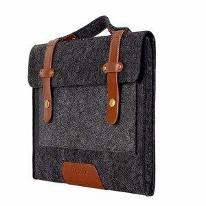 Image 3 - Mosiso 13 13.3 15 15.6Inch Voelde Laptop Sleeve Tas Voor Macbook Air Pro 16 Inch A214 Notebook Aktetas Messenger schoudertassen