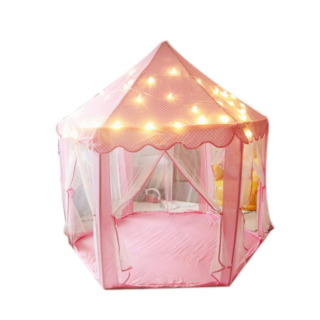 Fille princesse tentes avec LED lumières enfants cadeaux belle et remarquable princesse Playhouse enfants jeux d'intérieur