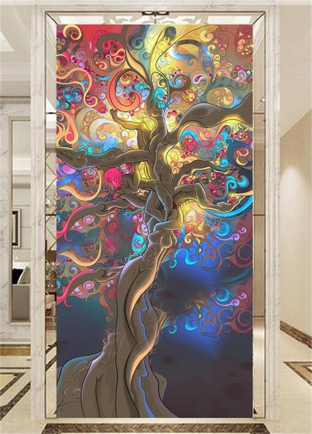 Abstract wallpaper art promotion shop for promotional for Custom mural painting