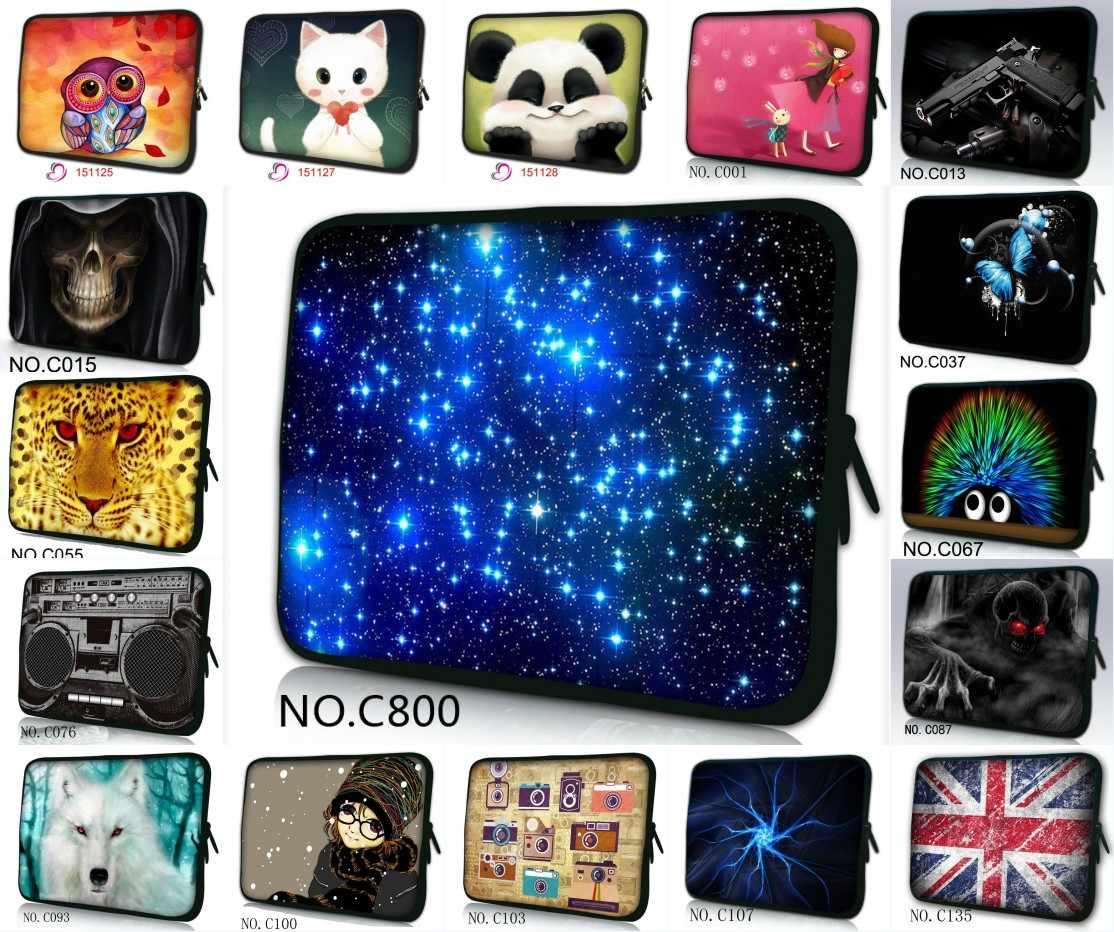 Diseños coloridos Tab 9,7 10,1 pulgadas Laptop 10 12 13 14 15 17 bolsa de manga dúo cremalleras para ordenador portátil fundas Bolsas