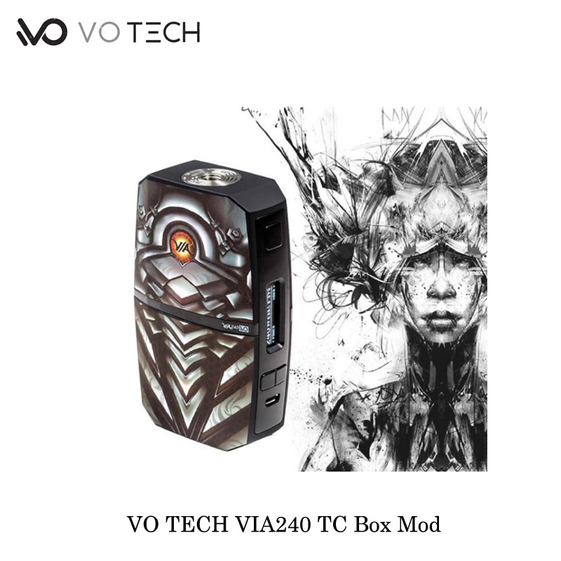electronic cigarettes 240W VO TECH VIA240 TC Box Mod VO CHIPSET Powered By Dual